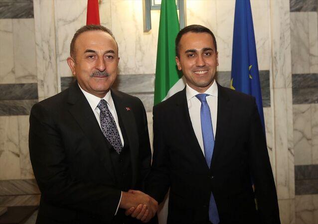 Dışişleri Bakanı Mevlüt Çavuşoğlu, Roma'da, İtalya Dışişleri Bakanı Luigi Di Maio ile bir araya geldi.