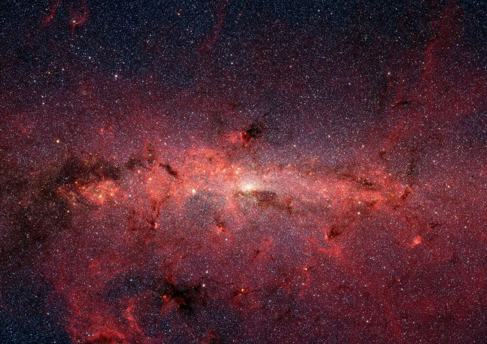 Spitzer Teleskobu'nun çektiği Samanyolu görüntüsü.