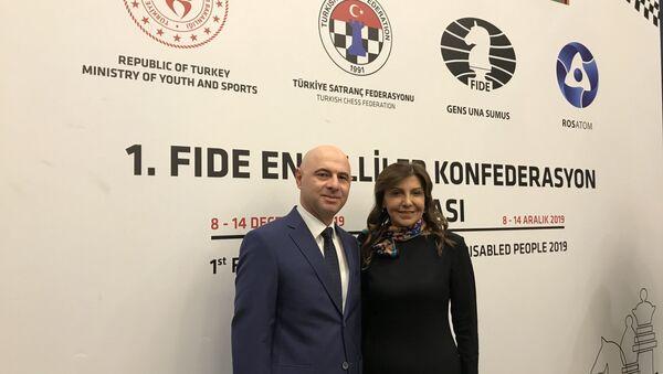 Türkiye ve Rusya'nın ortak takımda mücadele verdiği 'FİDE Engelliler İçin Konfederasyon Kupası' Ankara'da başladı - Sputnik Türkiye