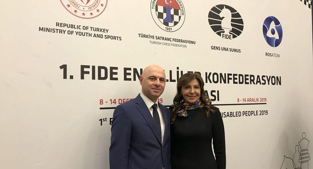 Türkiye ve Rusya'nın ortak takımda mücadele verdiği 'FİDE Engelliler İçin Konfederasyon Kupası' Ankara'da başladı
