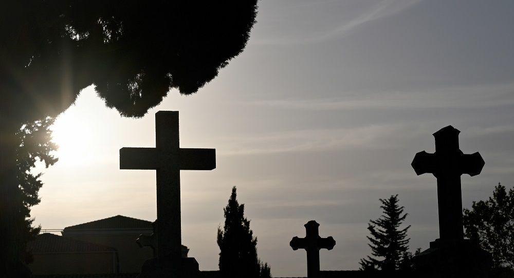 Fransa'nın güneyinde Gignac-la-Nerthe Mezarlığı