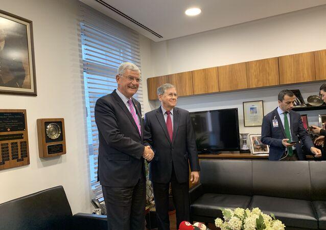 ABD'nin Ankara Büyükelçisi David Satterfield ile görüşen TBMM Dışişleri Komisyonu Başkanı Volkan Bozkır