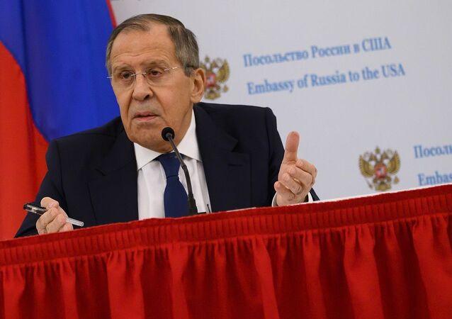 Rusya Dışişleri Bakanı Lavrov Washington ziyaretinin ardından gazetecilere açıklamalarda bulundu