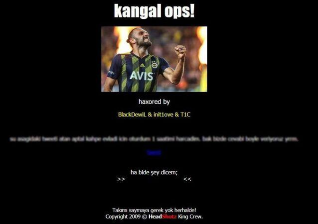 DG Sivasspor'un resmi internet sitesi www.sivasspor.org.tr, Fenerbahçe ile oynanan maçın ardından hacklendi.