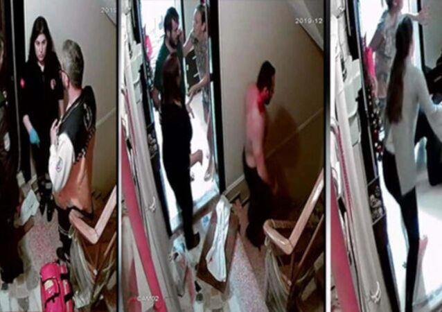 Bakırköy Yeşilköy'de alt katta bulunan ve Gürültü yapmayın uyuyamıyorum diye mesaj atan komşularına saldıran baba ile 2 oğlu tutuklandı.
