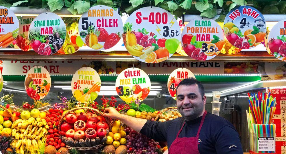 Kadıköy esnafından S-400 meyve kokteyli