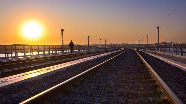 Kırım Köprüsü-demiryolu kısmı - Sputnik Türkiye