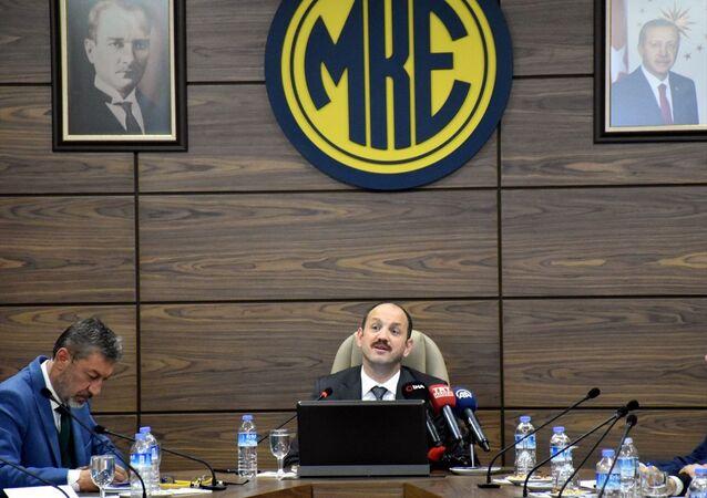 Makina ve Kimya Endüstrisi Kurumu (MKEK) Genel Müdürü Yasin Akdere, kurumun Kırıkkale'deki sosyal tesislerinde gazetecilerle bir araya geldi. Akdere, burada konuştu.