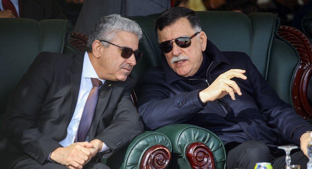 Libya Ulusal Mutabakat Hükümeti (UMH) Başkanlık Konseyi Başkanı Fayiz es Serrac ve İçişleri Bakanı Fethi Başağa