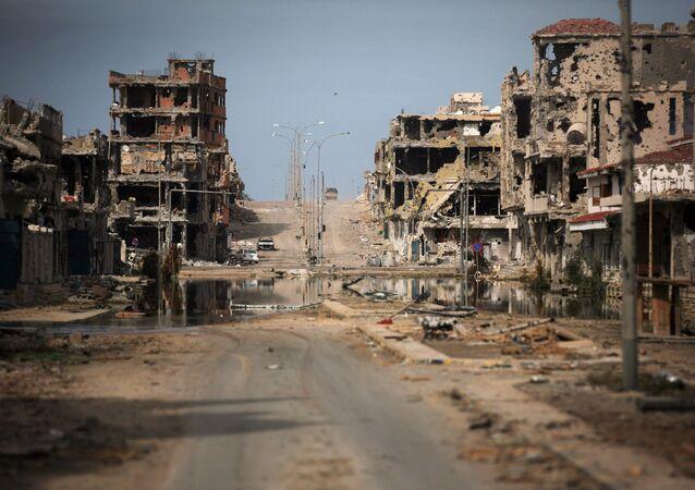 Libya kenti Sirte 22 Ekim 2011'de