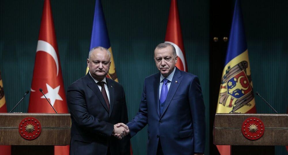Türkiye Cumhurbaşkanı Recep Tayyip Erdoğan ve Moldova Cumhurbaşkanı Igor Dodon