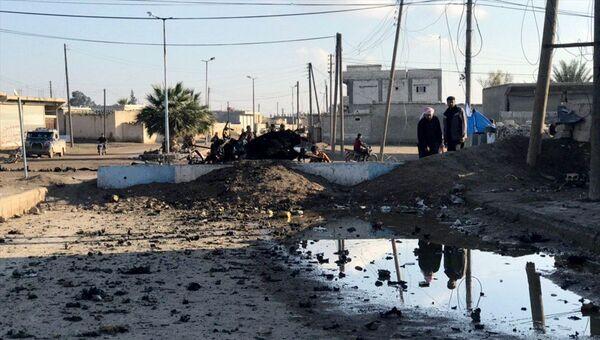 Tel Abyad'da saldırı - Sputnik Türkiye