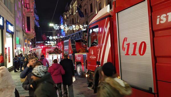 İstiklal Caddesi, yangın - Sputnik Türkiye