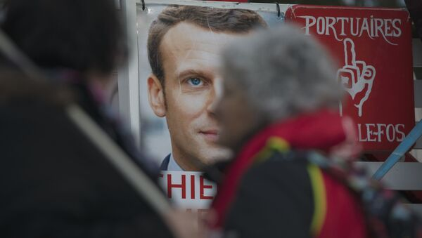 Macron, emelilik reformu, grev - Sputnik Türkiye