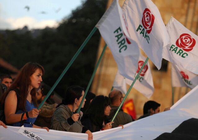 FARC bayrakları