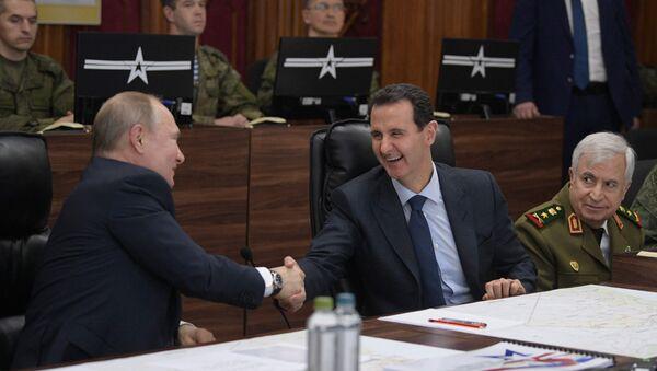 Putin, Esad - Sputnik Türkiye
