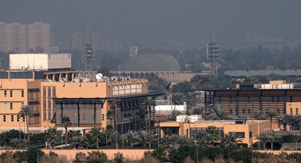 Bağdat'ta bulunan Yeşil Bölge'deki ABD Büyükelçiliği