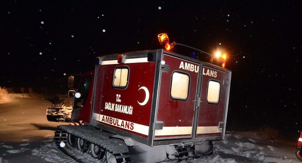 Bitlis Nemrut kar ambulans