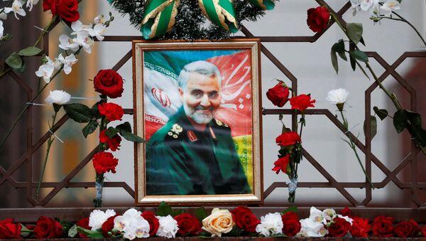 İran'ın Belarus Büyükelçiliği'nde Kasım Süleymani anması - Sputnik Türkiye