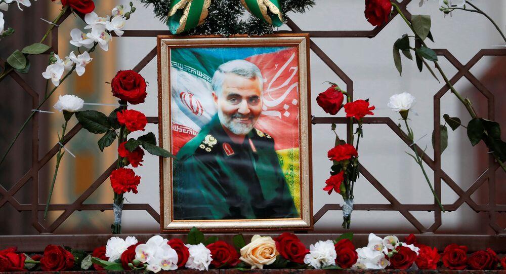 İran'ın Belarus Büyükelçiliği'nde Kasım Süleymani anması