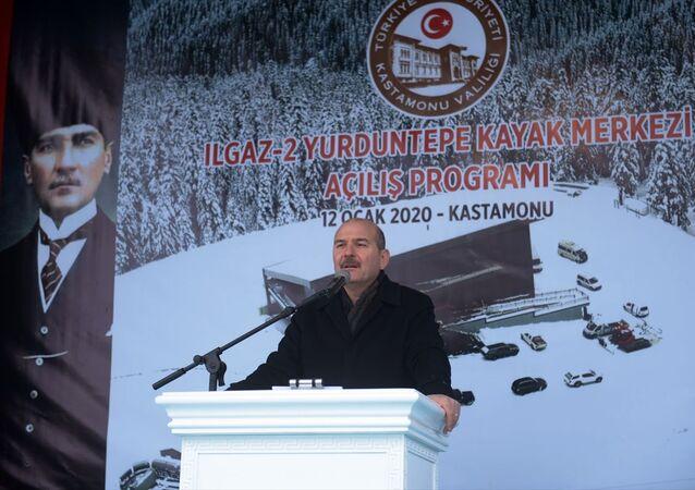 İçişleri Bakanı Süleyman Soylu, Kastamonu'da Ilgaz 2- Yurduntepe Kayak Merkezi açılışına katıldı.
