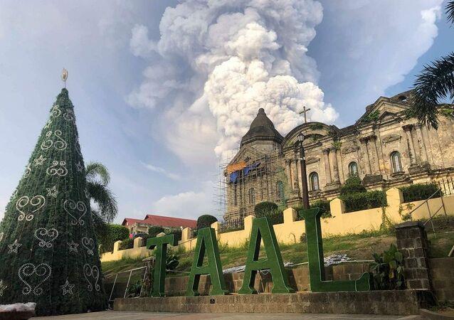 Filipinler'de Taal Yanardağı'nda patlama