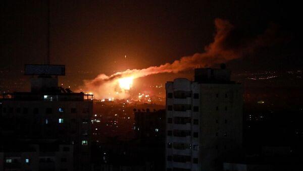 İsrail, Gazze, hava saldırısı - Sputnik Türkiye
