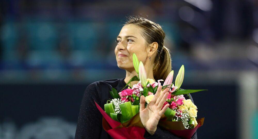 Dünyaca ünlü tenisçi Maria Şarapova