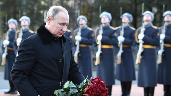 Rusya Devlet Başkanı Vladimir Putin Leningrad Kuşatması anma töreninde - Sputnik Türkiye