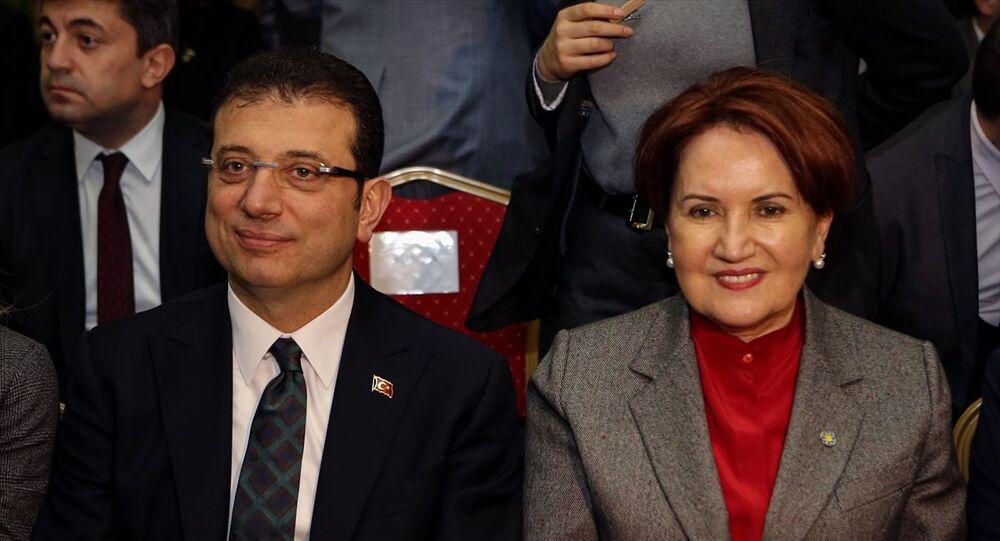 İstanbul Büyükşehir Belediye (İBB) Başkanı Ekrem İmamoğlu ve İYİ Parti Genel Başkanı Meral Akşener