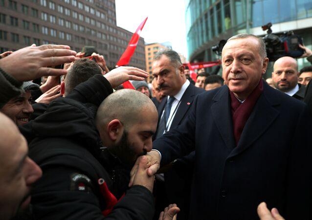 Cumhurbaşkanı Recep Tayyip Erdoğan, Libya konferansına katılmak için gittiği Almanya'nın başkenti Berlin'de