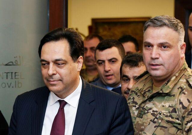 Lebanon's Prime Minister Hassan Diab