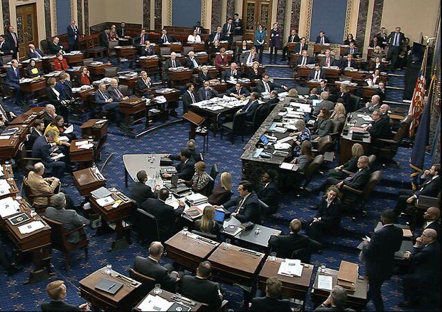 ABD Başkanı Donald Trump'ın yargılandığı Senato'daki ilk azil duruşması