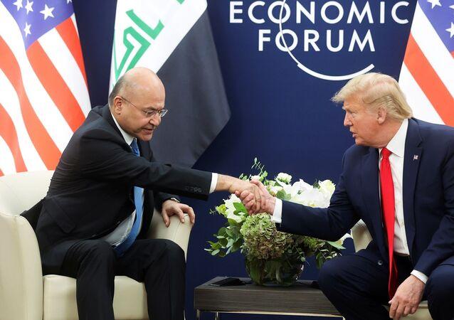 Irak Cumhurbaşkanı Berhem Salih, ABD Başkanı Donald Trump