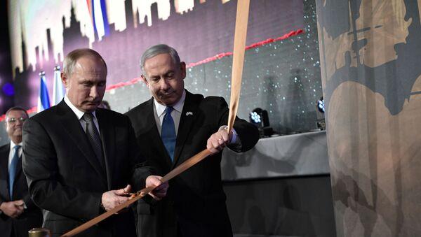 usya Devlet Başkanı Vladimir Putin, İsrail Başbakanı Benyamin Netanyahu - Sputnik Türkiye