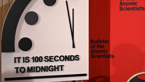 Kıyamet saatine göre, kıyameti sembolize eden 'gece yarısına' sadece 100 saniye kaldı.  - Sputnik Türkiye