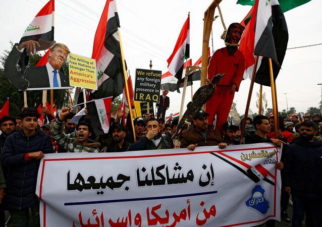 Bağdat'ta Sadr yanlılarından ABD'ye karşı gösteri