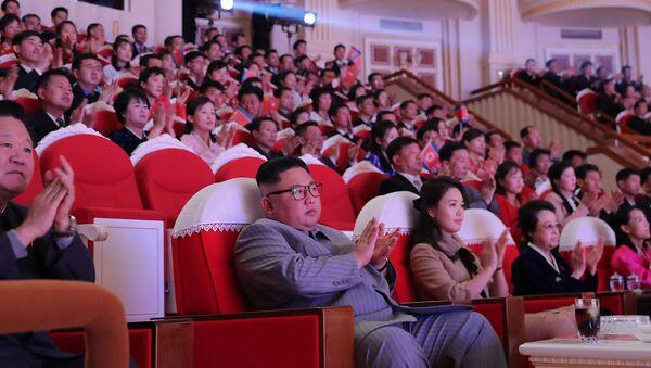 Kim Jong-un, eşi ve halası - Sputnik Türkiye