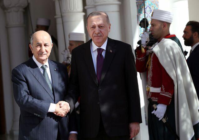 Cumhurbaşkanı Recep Tayyip Erdoğan, Cezayir'i ziyaret edip Cumhurbaşkanı Abdulmecid Tebbun ile biraraya geldi.