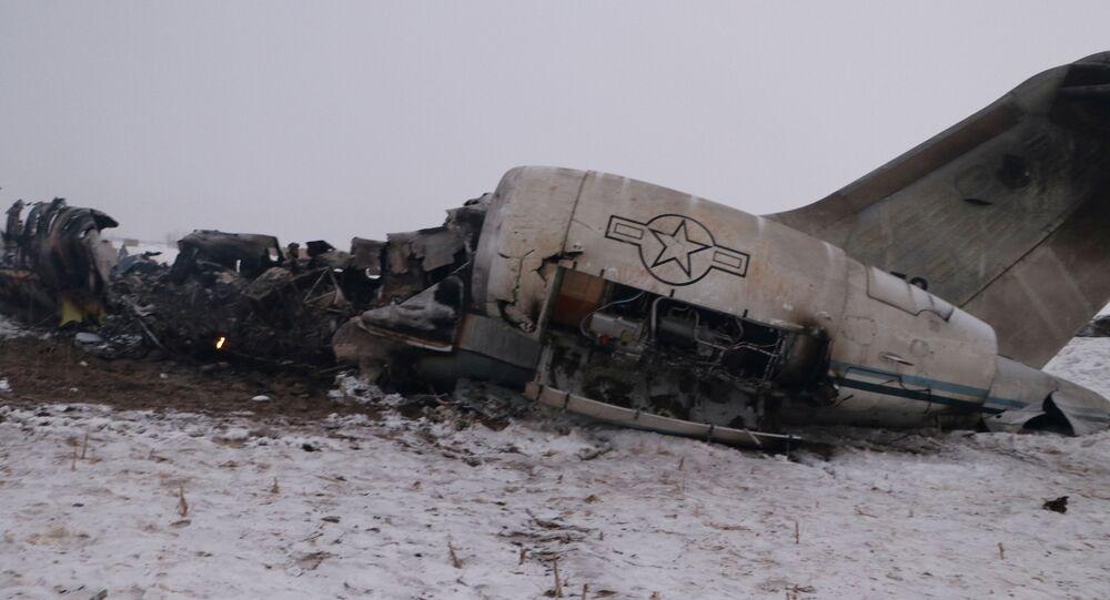 Afganistan'ın doğusundaki Gazne vilayetinin Deh Yek ilçesine bağlı Saduzey beldesinde düşen 11-9358 seri numaralı E-11A tipi ABD casus uçağı