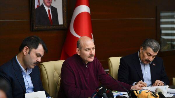 Süleyman Soylu-Fahrettin Koca-Murat Kurum  - Sputnik Türkiye