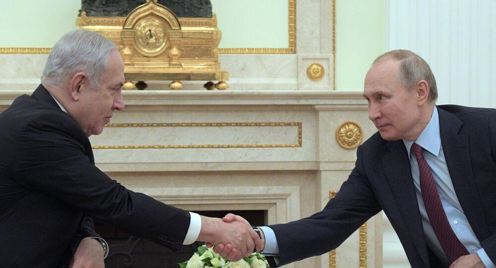 Rusya Devlet Başkanı Vladimir Putin ve İsrail Başbakanı Benyamin Netanyahu