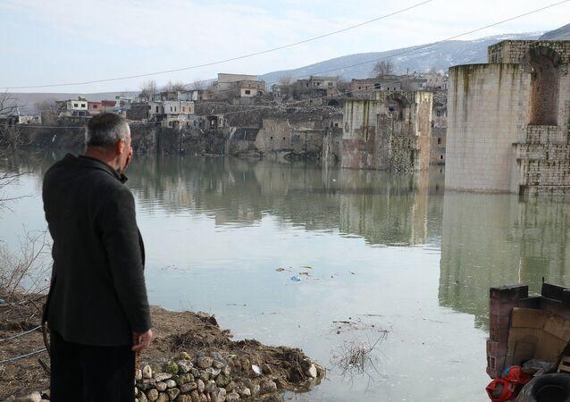 Hasankeyf'te sular hızla yükseliyor: Evler sular atında kaldı