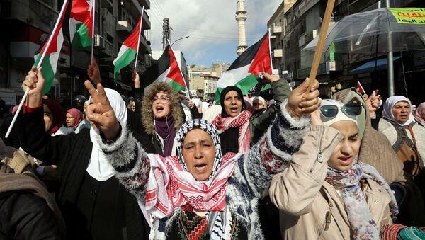 Ürdün başkenti Amman'da Trump'ın 'Yüzyılın Anlaşması'nı protesto edenler (31 Ocak 2020) - Sputnik Türkiye