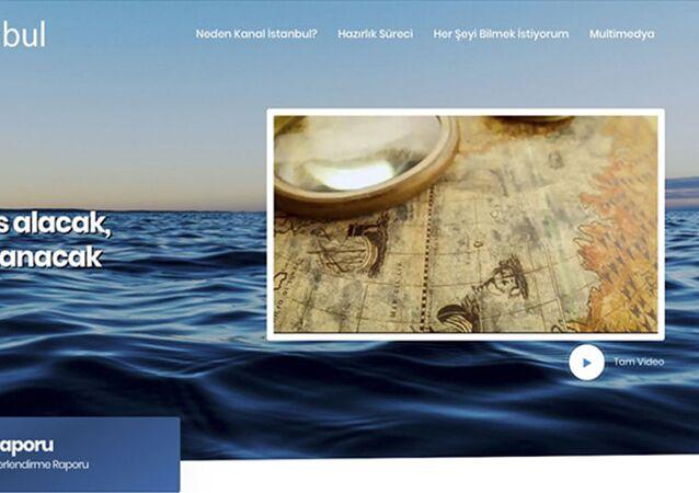 Kanal İstanbul internet sitesi
