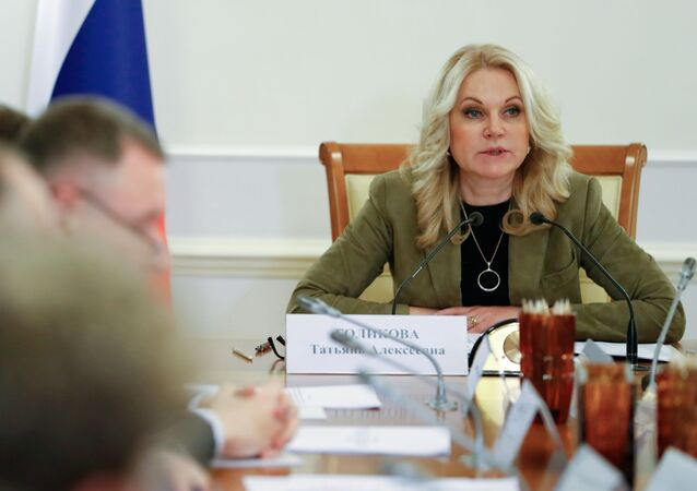 Deputy Prime Minister Tatyana Golikova chairs a meeting on preventing China's novel coronavirus from spreading to Russia, in Moscow, Russia.