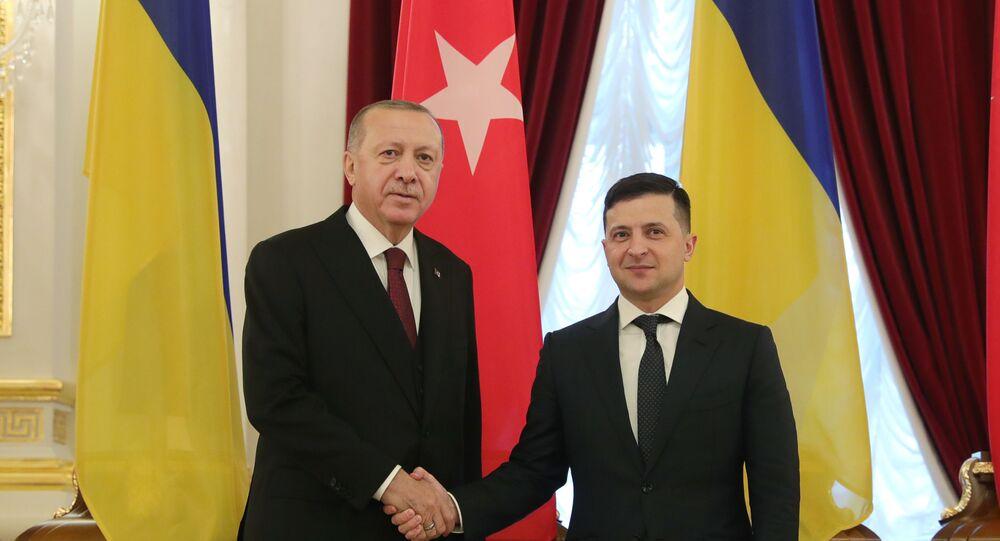 Cumhurbaşkanı Recep Tayyip Erdoğan ve Ukrayna Devlet Başkanı Zelenskiy ortak basın açıklaması düzenledi