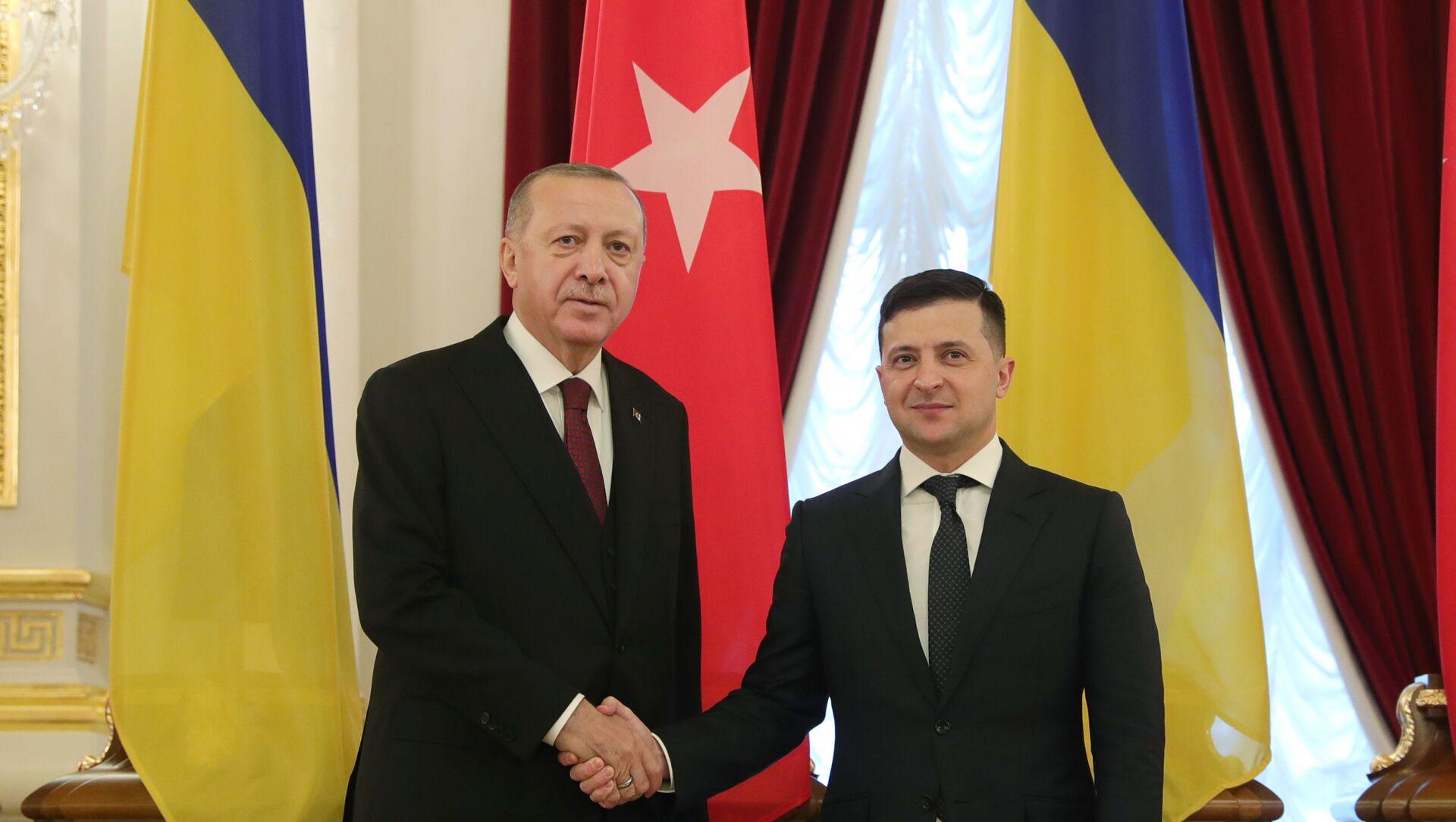 Cumhurbaşkanı Recep Tayyip Erdoğan ve Ukrayna Devlet Başkanı Zelenskiy ortak basın açıklaması düzenledi - Sputnik Türkiye, 1920, 10.04.2021