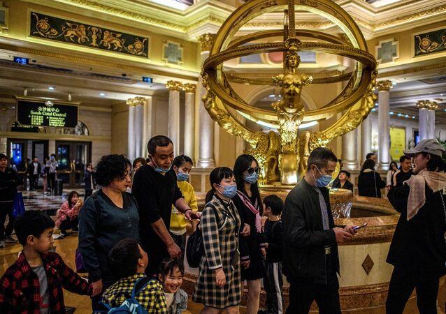 Macau'daki kumarhaneler - koronavirüs  - Çin