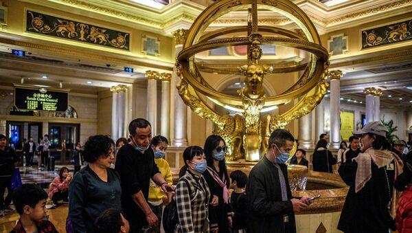 Macau'daki kumarhaneler - koronavirüs  - Çin - Sputnik Türkiye